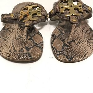 Tory Burch Shoes - Tory Burch Miller 2 Snakeskin Thong Sandals 8.5